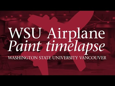 Horizon Air's Washington State University airplane Video