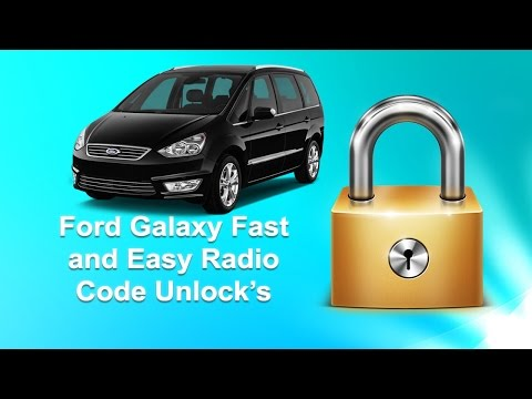 How To Find Ford Galaxy Radio Code Serial