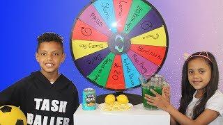 MYSTERY WHEEL CHALLENGE!! TASH BALLER VS MY SISTER!!