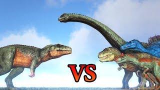 Carcharodontosaurus vs Rex, Spino & other ARK Dinosaurs - ARK Modded #3 || Cantex