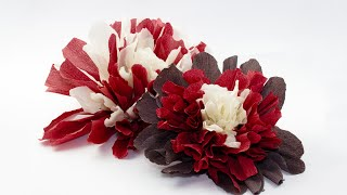 Цветы из креп-бумаги своими руками - мастер-класс