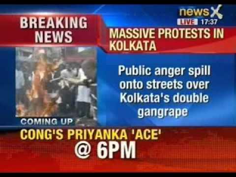 Bengal's Damini moment: Public anger spill onto streets over kolkata's double gangrape - NewsX