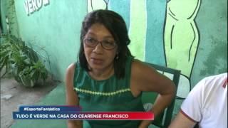 Cearense apaixonado pelo Palmeiras tem casa inteiramente dedicada ao time