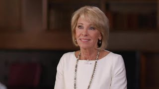 "Betsy DeVos pushes back against criticism over ""60 Minutes"" interview"