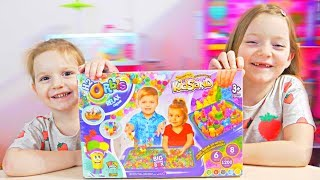 NISIP KINETIC Facem Castel Set cu 6 Culori / Ne jucam si Invatam Culorile/ Video pentru Copii