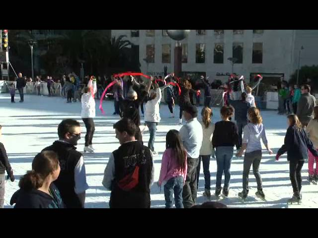 Andy & Tiffany's Ice Skating Marriage Proposal Flash Mob