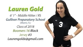 Lauren Gold - 2016 Volleyball Highlights