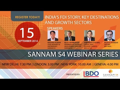 India's FDI Story, Key Destinations & Growth Sectors Webinar