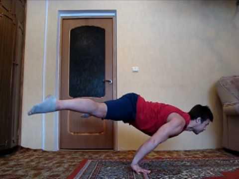 Видео как научиться отжиматься без ног