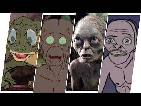 Gollum Evolution in Movies, Cartoons & TV.