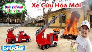 ĐỒ CHƠI XE CỨU HỎA CHỮA CHÁY | Fire truck toys fire brigade 💚 Giải trí cho Bé yêu