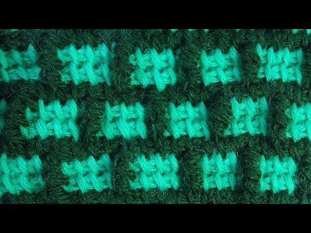 Хитрющий Узор с витыми рельефными столбиками  тунисское вязание Tunisian crochet pattern  78