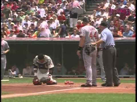 Adam Dunn Runs into Carlos Santana