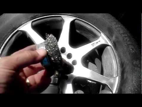 """How to Paint rims with Rustoleum"" wheel paint part 1"