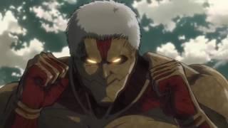 Eren vs Armored Titan (English Sub Full Fight )