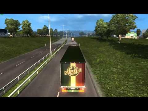 Euro Truck Simulator 2 Konwój Firmowy #4  1/6 Mordercza Czkawka W/PrezesGaming