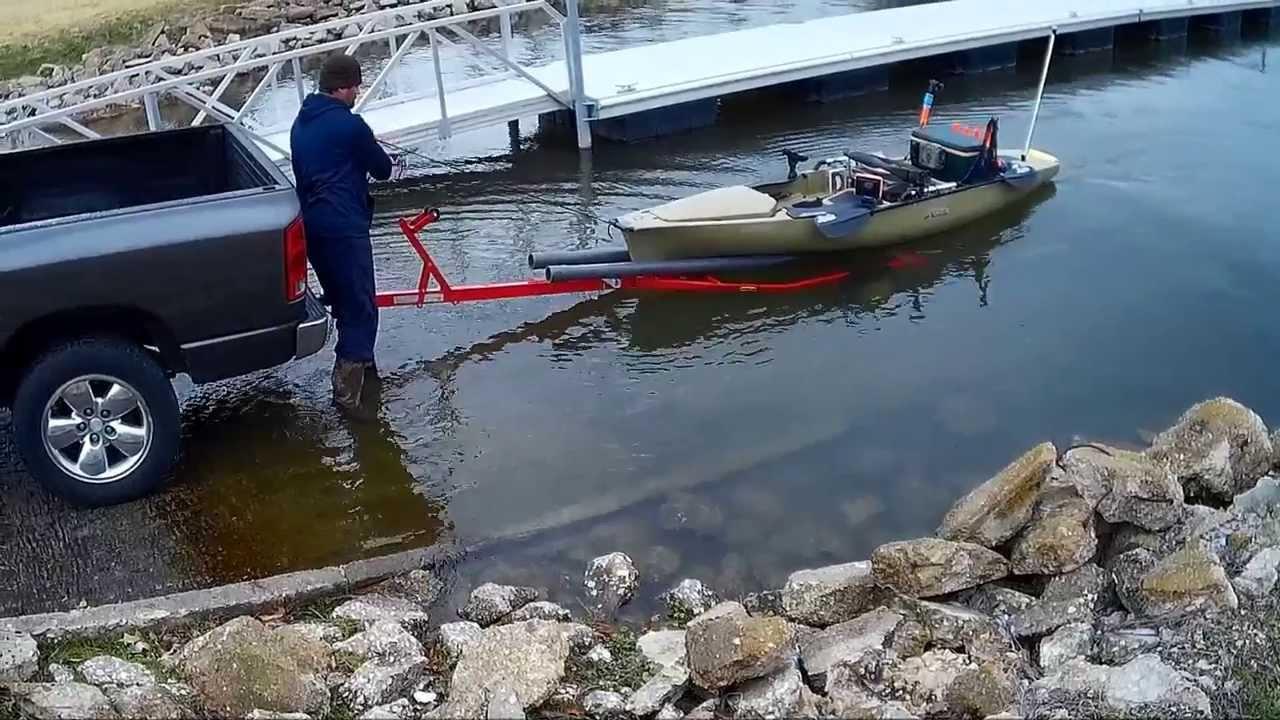 Trailering My Hobie Pro Angler 14 Youtube