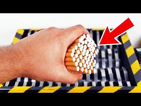 Observa que sucede al Triturar Tabaco !!