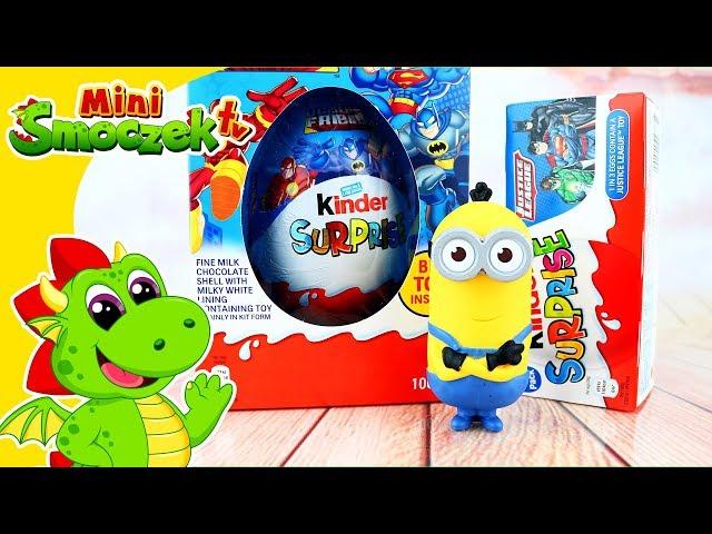Minion Kevin i Jajko Kinder Niespodzianka Gigant Z Super Heroes | Zabawki Dla Dzieci Po Polsku