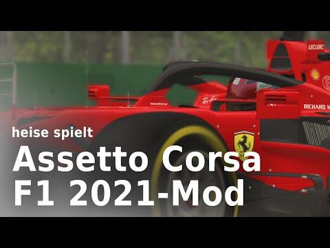 heise spielt die Formel-1-Mod-2021 für Assetto Corsa