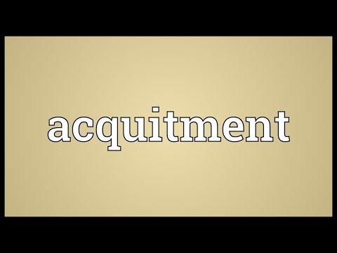 Header of Acquitment