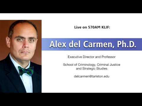 Dr. Alex del Carmen discussing the downtown Dallas shooting live in the radio in Dallas/Fort Worth