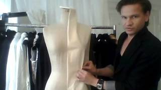 7. How to drape a stand-up collar built into a ladies