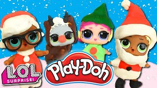 LOL Surprise Dolls Holiday Play-Doh Fashion Contest! Featuring Splash Queen, MC Swag, & Boogie Babe!