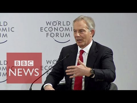 Blair challenged over Iraq War at WEF in Davos