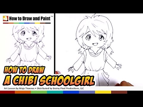 How to Draw Chibi (Schoolgirl) | MLT