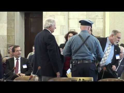 NJ Citizen testimony cut off; Chairman sits during Pledge of Allegiance