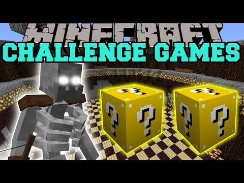 Minecraft: MUTANT SKELETON CHALLENGE GAMES - LUCKY BLOCK MOD - Modded Mini-Game