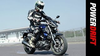 Yamaha MT 15 : R15 now a street fighter : PowerDrift