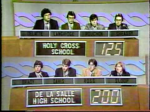 Varsity Quiz Bowl - 1980-81 - Holy Cross School vs De La Salle High School
