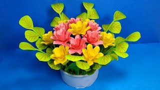 Paper Handcraft: How to Make Best Flower Bouquet for Table Decoration!!DIY Jarine's Crafty Creation