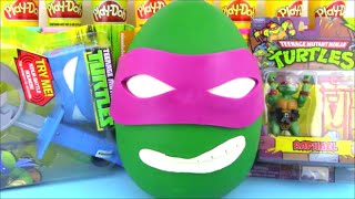 TMNT Donatello Giant Surprise Egg Ninja Turtle Toys
