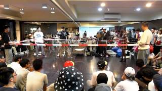 『TribalCrew‬ 』2015 Pop Racer Vol 10 Special show Hoan 拳擊小丑表演賽 |taiwan popping Hoan battle show