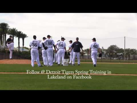 2012 Detroit Tigers Spring Training Phil Coke Na Na Na!