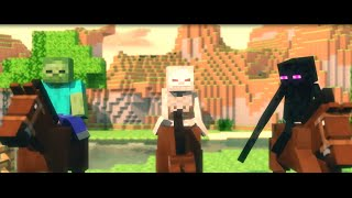 Monster School: Horse Riding - Minecraft Animation