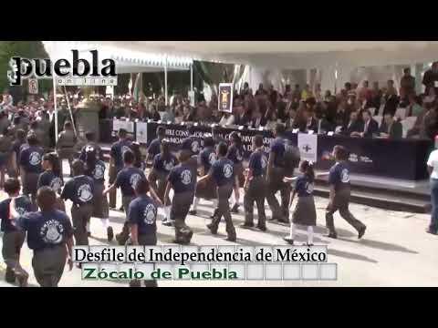 Desfile de la Independencia de México en Puebla, 16 septiembre 2014