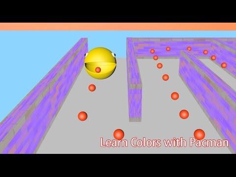 Learn Colors for Children 3D Pacman Candy Balls Surprise Eggs - wms4kids