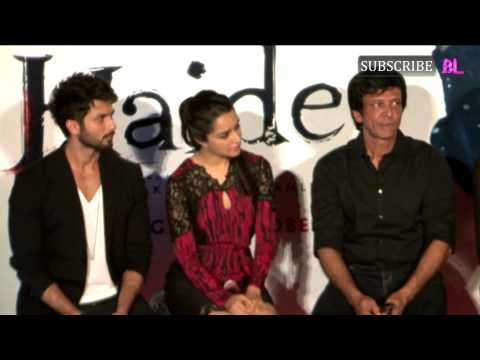 Shahid Kapoor And Shraddha Kapoor At Trailer Launch Of Movie Haider Part 1