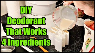 DIY All Natural Deodorant at Home (Just 4 Ingredients)