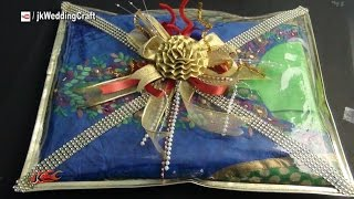 Easy Gift Packing Ideas for Wedding Trousseau | How to pack Indian Dress | JK Wedding Craft  044