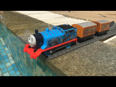 Thomas and Friends Accidents Will Happen Thomas, Annie and Clarabel Crash Into The Pool
