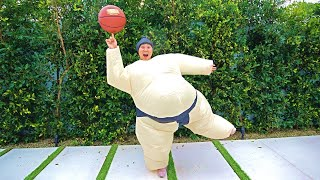 24 HOURS TRAPPED IN A SUMO SUIT!!