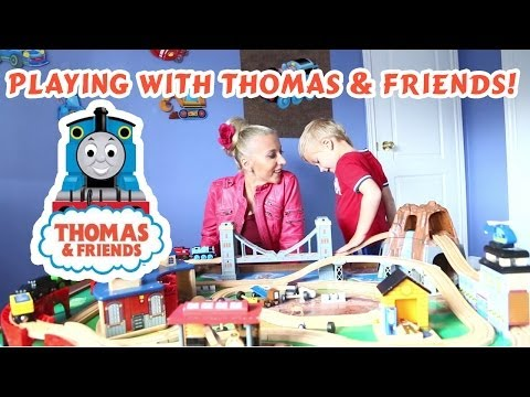 Playing with a Cool Thomas and His Friends Train Table Set