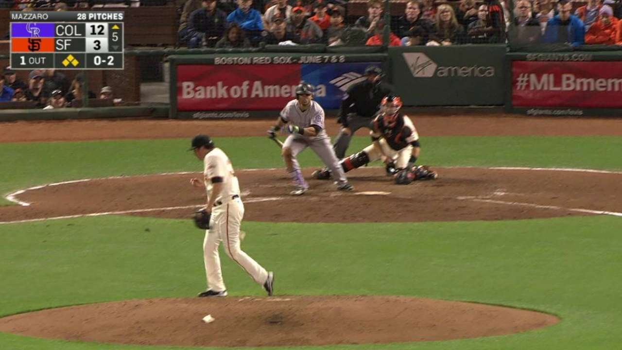 COL@SF: Parra's two-run single to center field