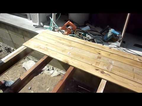 DIY木工ウッドデッキの作りかた パート1How to Build a Wood Deck part1