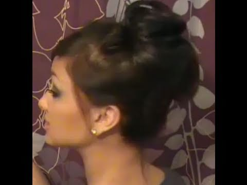 "Hair how to: Quick & Easy ""messy"" bun"